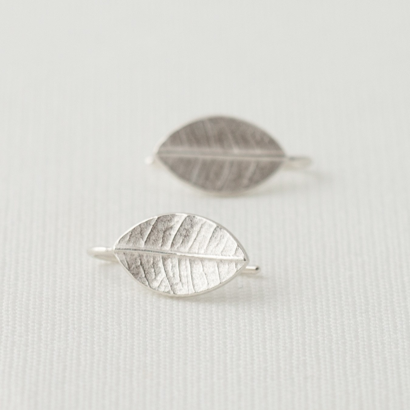 Little Leafy Drops Silver Earrings